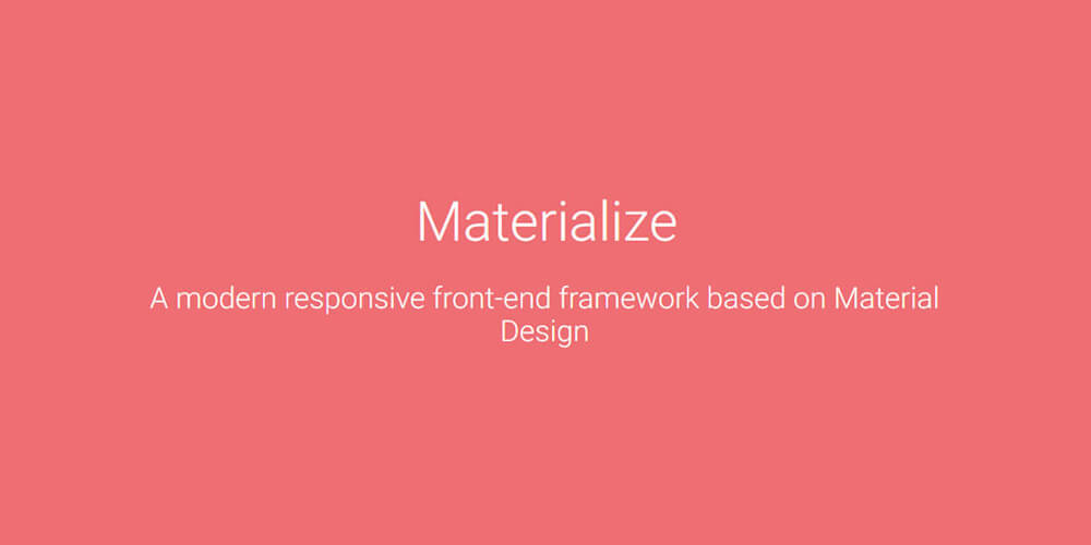 Materialize Design CSS Framework