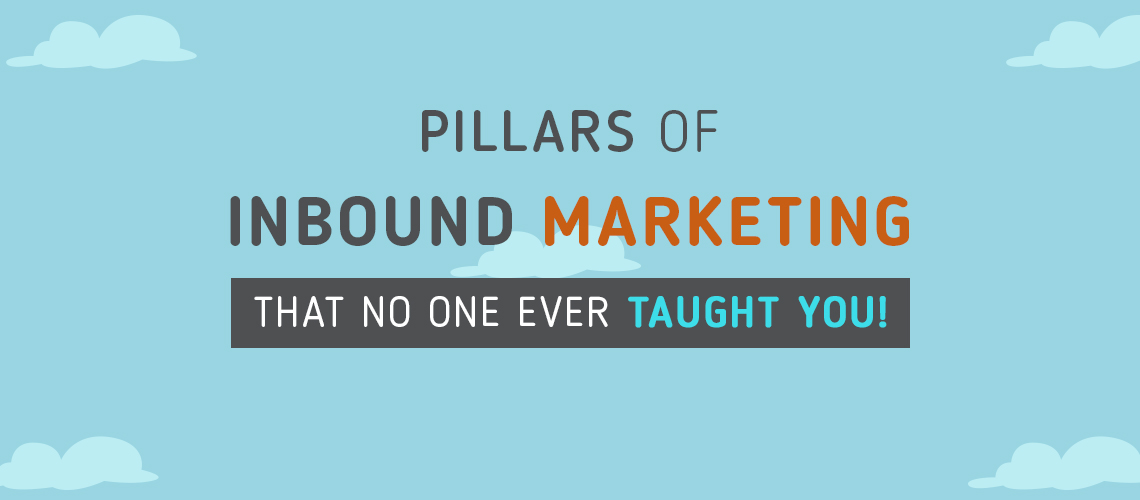 Pillars of Inbound Marketing that no one ever taught you! [Infographic]