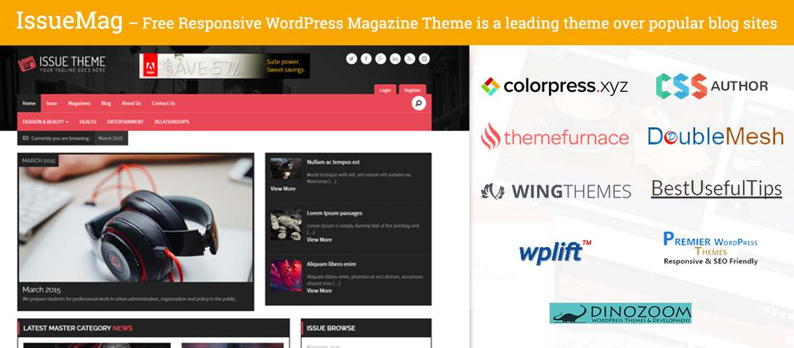 Check it out! Our free theme is breaking the bars at WordPress Magazine Theme charts!