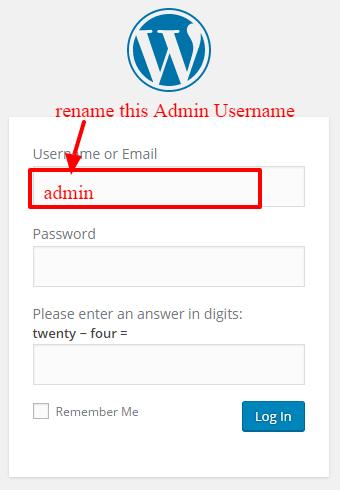 Use secure wordpress username