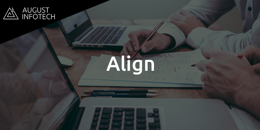 Seven Philosophies for Client Satisfaction at August Infotech-Align