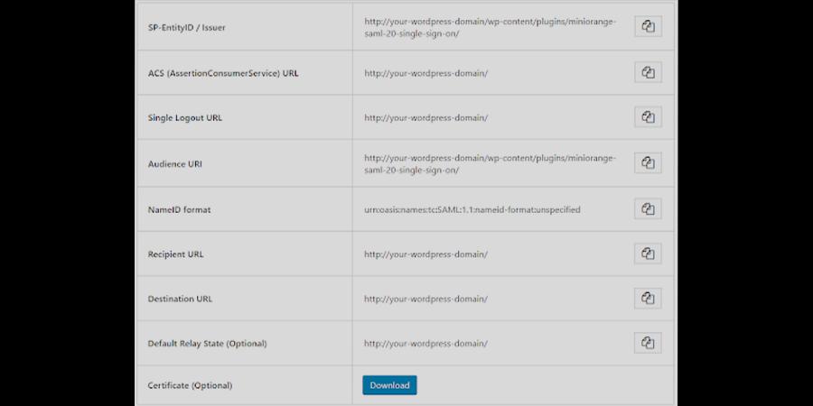 August Infotech - miniOrange - Wordpress SAML Plugin